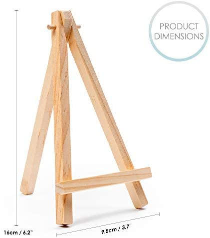 THE TWIDDLERS 20 Mini Wooden Wedding Easels Perfect for Wedding Table Numbers or Name cards Photo Displays /& Painting Craft Drawing