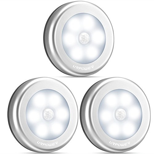 URPOWER-Motion-Sensor-Light-Motion-sensing-Battery-Powered-LED-Stick-Anywhere-NightlightWall-Light-for-EntranceHallwayBasementGarageBathroomCabinetCloset
