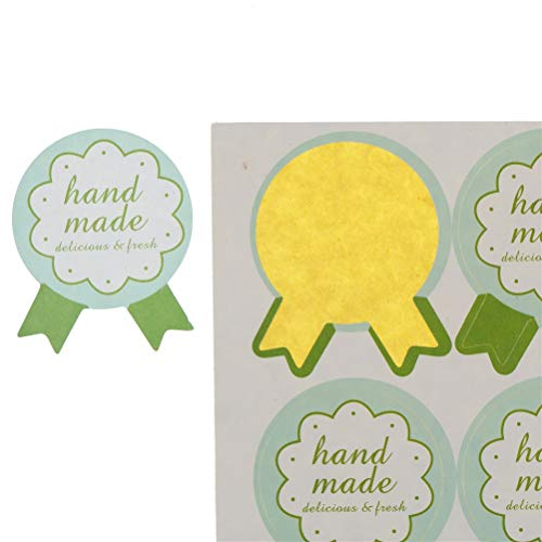 Party Diy Decorations - Green Hand Made Quot Handmade Wrapping Paper Seal Stickers Diy Bread Children Making Gift Box - Party Decorations Party Decorations Halloween Paper Sandwich Tsum -