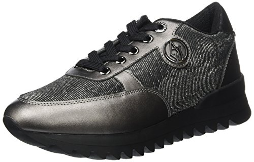 Negro Sneaker Zapatillas para Mujer Armani Runner 00020 Nero nA4Xw1
