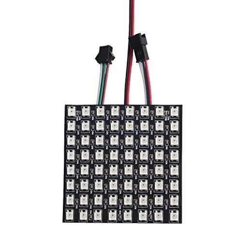 BTF-LIGHTING 0.24ft0.24ft Pixel 64 Pixels WS2812B LED Programmed Panel Screen Digital Flexible Individually Addressable DC5V ()