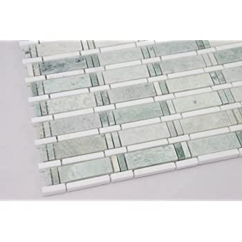 green mosaic tile floor ming green thassos white marble mosaic tile white and green