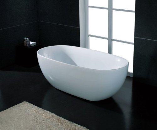 AKDY F277 Bathroom White Color Free Standing Acrylic Bathtub (Free Standing Bathtub compare prices)