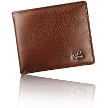 Sannysis Men Bifold Business PU Leather Wallet ID Credit Card Holder Purse