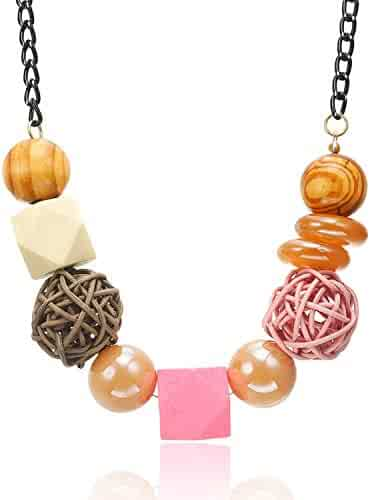 89c63f8f5253cf WNDSYN Necklace Necklaces & Pendants Women/Statement/Big/Beads/Vintage/Lady