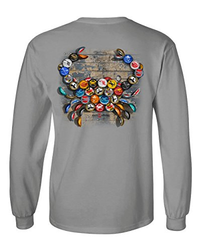 Natty BOH Bottle Cap (Light Steel) / Long Sleeve Shirt (Boh Mens T-shirt)