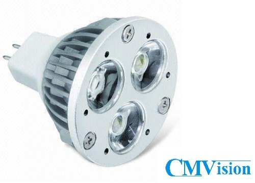 CMVision 4 Watt M16 GU53 Base LED Light Bulb Bright Pure White 5000-6000K (M16 Base)