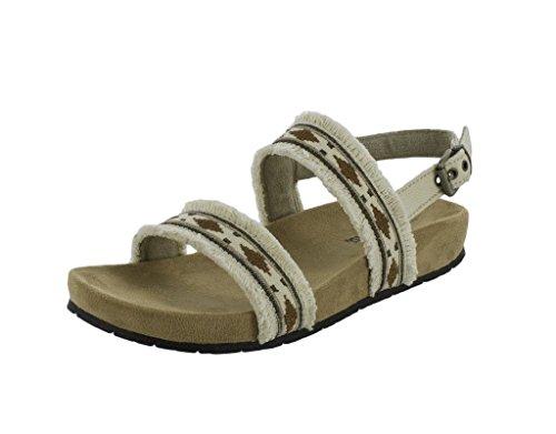Minnetonka Womens Melody Sandal Natural Size 9