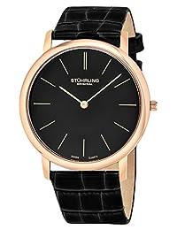 Stuhrling Original Men's Classic Ascot Slim Swiss Watch Black 601.3345K1