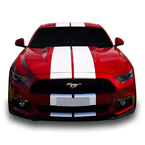 Bubbles Designs Decal Sticker Vinyl Body Racing Stripe Kit Compatible with Ford Mustang GT 2015-16 ()