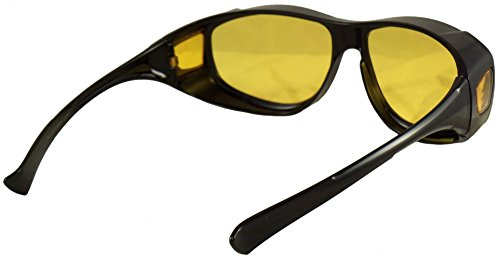 a40660befdb2 Ideal Eyewear Night Driving Fit Over Glasses Wear Over Prescription Glasses  - Yellow Lens for Better
