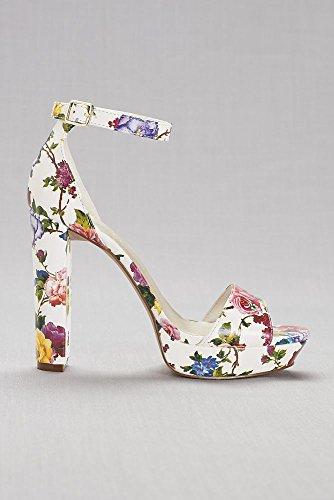 Davids Plate-forme Florale Mariée Talons Style Flore Multi