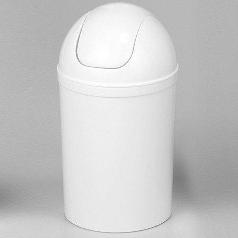 Schwingdeckeleimer 25 Liter weiß Rund Mülleimer Abfalleimer