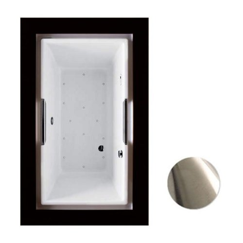 Toto ABR930T#01YBN Lloyd Air Bath Tub with Right Keypad and Left Blower with Brushed Nickel Grab Bar Only, Cotton
