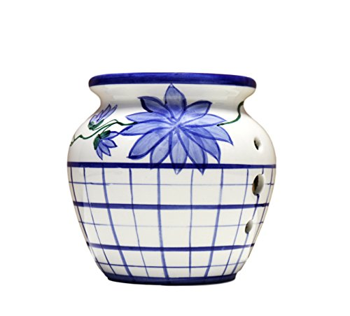 - Tuscany Hand Painted Ceramic Blue Flannel Tart Burner 4-1/4, 84949 by ACK