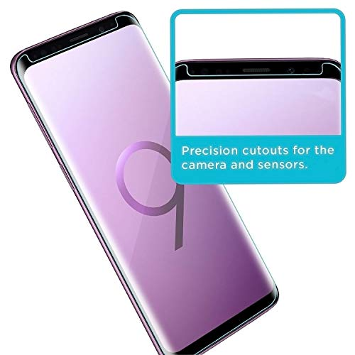 Galaxy S9 Screen Protector [2-Pack], OLINKIT [CASE-FRIENDLY] Tempered Glass Screen Protector for Samsung Galaxy S9 - Black by OLINKIT (Image #5)