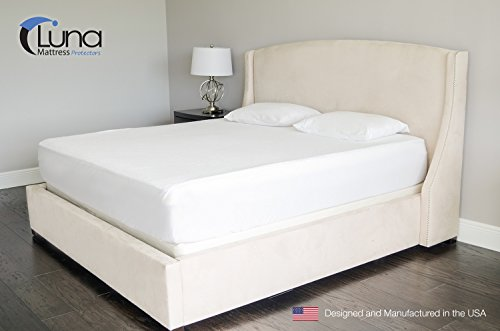 Queen Size Luna Premium Hypoallergenic 100% Waterproof Mattress Protector - Made in...