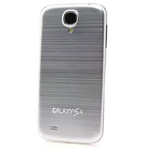 ProBagz - Tapa trasera de aluminio para Samsung Galaxy S4 i9500 y GT-9505 (incluye protector de pantalla), color plateado
