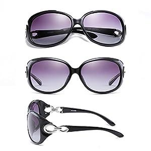 Myiaur Oversized Stylish Fashion Polarized Sunglasses for Women Driving 100% UV Protection … (black)
