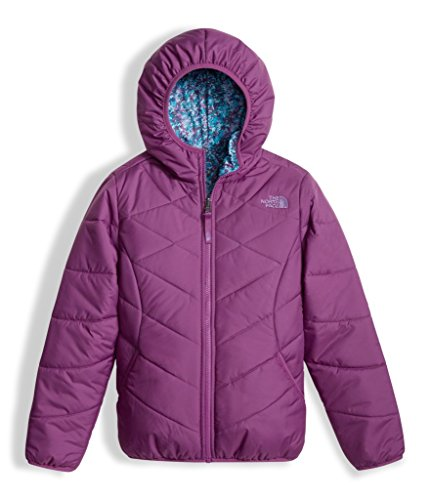 The North Face Girls Reversible Perrito Jacket - Wood Violet - S by The North Face