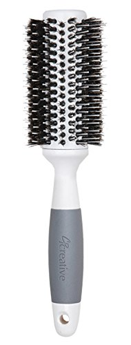 Creative Hair Brushes Solid Barrel Ceramic Mixed Bristles, Large, 4.2 Ounce