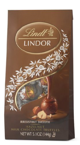 Lindt LINDOR Hazelnut Milk Chocolate Truffles, 5.1 Ounce by Lindt Chocolate [Foods] (Hazelnut Truffles)