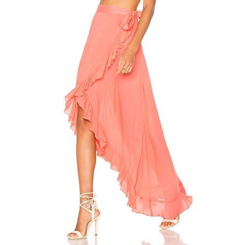L-Peach Pareo Bikini Cover Up Falda de Playa Encaje Talla Unica Cintura El/ástica