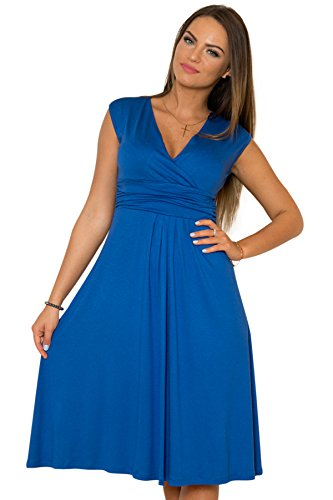 a Clothing con scollo Fancy senza donna Blu Abito maniche estivo V da That 6ZZwqUv