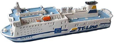 Unbekannt Schiffsmodell MS Tom Sawyer Miniatur Schiff Fähre TT-Line