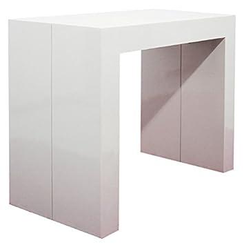 Lieblich RR Design Erweiterbar Asien Bemalt Konsole Tisch, Ausziehbar Bis 300 Cm  Glossy White