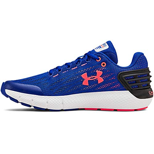Under Armour Boys' Grade School Charged Rogue Sneaker, Royal (402)/White, 4