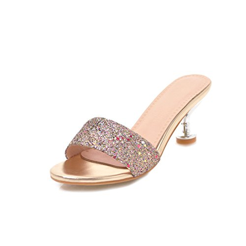 Red New Slipper Gold Party Womens's Silver Dimensione B Moda e Tacchi per Paillettes Colore Estate Serate Spillo 36 Shoes Primavera a qtqwI6F
