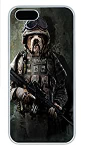 IPhone 5/5S Case Marine Sarge Rottweiler PC Hard Plastic Case for iPhone 5/5S Whtie