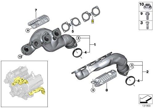 BMW M60 M62 S62 V8 Exhaust Manifold Gasket Seal 7509677 11627509677