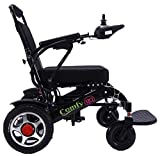 ComfyGO Electric Power Wheelchair Scooter Fold & Travel Lightweight Folding Safe Electric Wheelchair Motorized FDA Approved Aviation Travel Heavy Duty Power Wheelchair