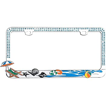 Amazon Com Airstrike Beach License Plate Frame Surf Car