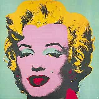 Kunstdruckposter Andy Warhol Marilyn Monroe Türkis 1967