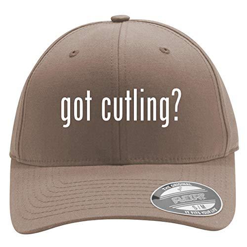got Cutling? - Men's Flexfit Baseball Cap Hat, Khaki, Large/X-Large from Bucking Ham