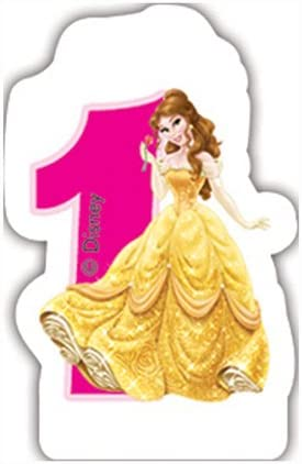 Disney Princess and Animals 1st Birthday Candle Unique Party 71838