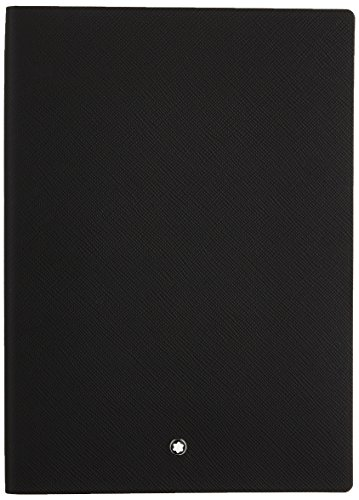 Montblanc Notebook Black Lined #146 Fine Stationery 113294 - Elegant Journal with Leather Binding and Ruled Pages - 1 x (5.9 x 8.2 in.) ()