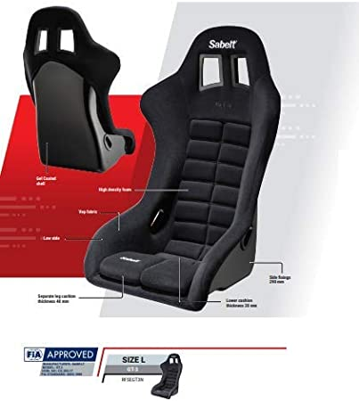 Sabelt RFSEGT3N FIA GT3 Seat With Seat Holders, One Seat