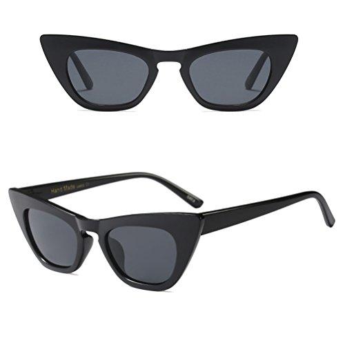 de Voyageant UV400 de Chat Femmes Vacances d'oeil Lunettes Black de pour Zhuhaitf Protection la Conduite des Soleil nBxYpwPZq1