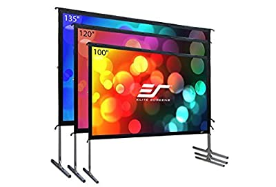 Elite Screens Yardmaster 2 Dual, 135-inch 16:9, Front / Rear 4K Ultra HD Ready Indoor / Outdoor Projector Screen OMS135H2-Dual