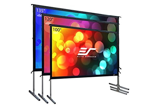 (Elite Screens Yard Master 2, 100 inch Outdoor Projector Screen with Stand 16:9, 8K 4K Ultra HD 3D Fast Folding Portable Movie Theater Cinema 100