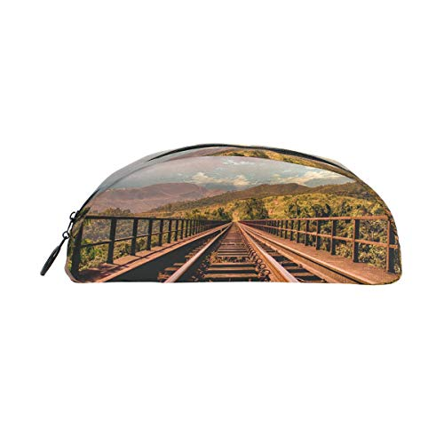 MUOOUM Rail Track Scenic Pencil Case Semicircle Stationery Pen Bag Pouch Holder for School Office Supplies ()
