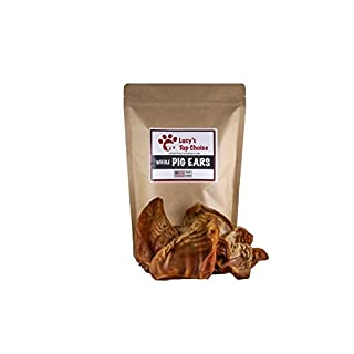 Made In USA #1 Large Smoked 100% All Natural Whole Pig Ears - Best Dog Treats 6 HUGE Whole Pig Ears Great alternative to rawhide chews. Ears packed with protein and other essential vitamins