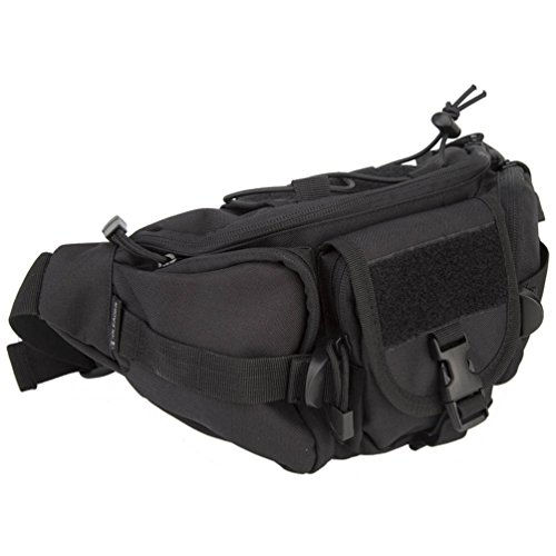 e25a6954cc01 Oleader Tactical Waist Pack Military Fanny Packs Hip Bag Bum Bag Tool  Organizer for Outdoor Hiking