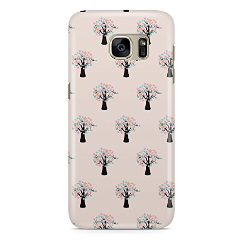Phone Case For Apple iPhone 5C - Owls in Blossom Trees - Back Premium