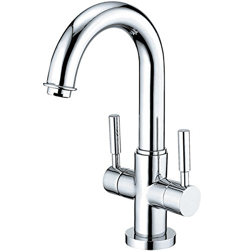Kingston Brass KS8451DL Concord 4-Inch Centerset Lavatory Faucet with Push-Up Pop-Up and Plate, Polished Chrome