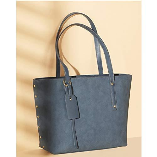 Simple Blue à LIUFS Simple Sauvage Atmosphère Forme et Sac Sauvage TOT Atmosphère fourre Sac Couleur Mode Shopping bandoulière la Unique Tout Sac à q8rZwSBq